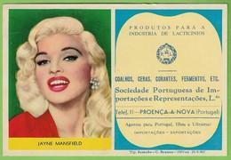Proença-a-Nova - Mata-Borrão - Blotter - Buvard - Jayne Mansfield - Film - Cinema - United States Of America Publicidade - Produits Pharmaceutiques