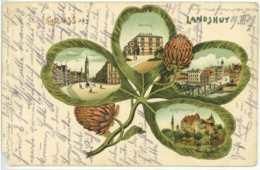 Ansichtskarte Gruss Aus LANDSHUT 1909 Nach Baching - Landshut