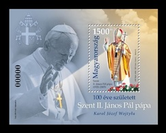 Hungary 2020 Mih. 6126I (Bl.438I) Pope John Paul II (black Number) MNH ** - Unused Stamps