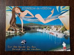 L27/1041 ESPARRON DE VERDON . SUR LES BORDS DU LAC - France