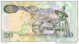 LESOTHO P. 16f  20 M 2007 UNC - Lesoto