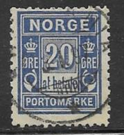 Norway, Scott # J5a Used Postage Due Perf 13 1/2 By 12 1/2, 1895, CV$115.00 - Port Dû (Taxe)