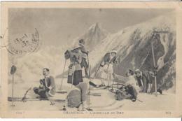 74 CHAMONIX MONT BLANC SPORTS HIVER Groupe De Skieurs Et Aiguille Du Dru Editeur LEVY ET NEURDEIN LL 144 - Chamonix-Mont-Blanc