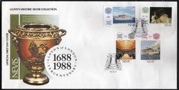 Nevis - #571-74(4) -  FDC - Antillas Holandesas