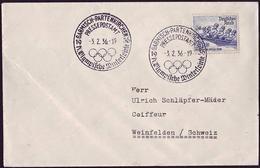 Germany - 1936 L - Winter Olympic Games 1936 - Letter (Presspostamt) - Winter 1936: Garmisch-Partenkirchen