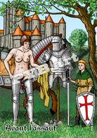 PYB: Avant L'assaut  [ Nu Nude Femme Armure Château CPM ] - Dessins