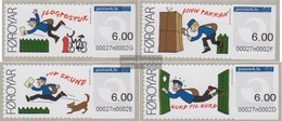 Denmark - Faroe Islands ATM1-ATM4 (complete Issue) Unmounted Mint / Never Hinged 2008 Automartenmarken Postman - Färöer Inseln