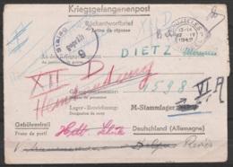 Courrier Pour Prisonnier 'Kriegsgefangenenpost' - Càd BRUXELLES /17.IV.1942 Pour Stalag XIIB Réexpédiée Stalag VIIA Réex - Guerre 14-18