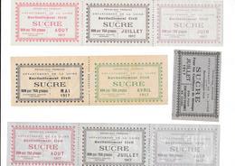 Département De La LOIRE - Ticket Ravitaillement Civil 1917  - SUCRE - Alte Papiere