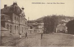 PONT-AUDEMER - ECOLE DES FILLES, PLACE D'ARMES - BIEN ANIMEE - VERS 1900 - Pont Audemer