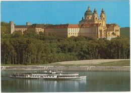Stift Melk Von NW Mit Der M.S.  'Stadt Passau' Der DDSG - (Boot/Schiff) - Melk