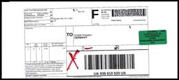 USA: 'Barfreimachung, 2020' / 'Cash-paid Mail - F' - Vereinigte Staaten