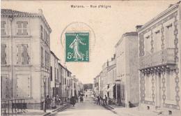 BAC19-  MARANS  EN CHARENTE MARITIME RUE D'ALIGRE     CPA  CIRCULE - Non Classés