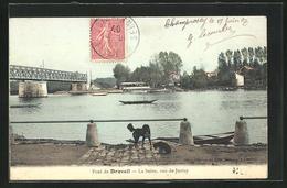 CPA Draveil, La Seine, Vue De Juvisy - Draveil