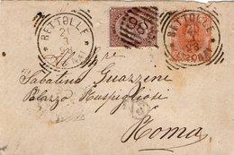 ANTICHI FRANCOBOLLI  BETTOLLE SINALUNGA 1898 - Storia Postale