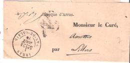 Pas De Calais ARRAS Dateur Type 18 Sur Bande Journal - 1849-1876: Période Classique