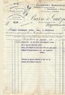 Montpellier-barre Et Guizard-entrepot Agricole-1919 - Agriculture