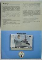 Telecarte Belgacom Zeemacht Force Navale Belge ABL Eskortescheep Escorteur WIELINGEN Korvet Corvette GODETIA - Télécartes