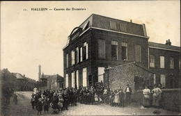 Cp Halluin Nord, Caserne Des Douaniers, Kinder - France