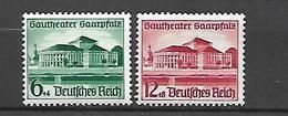 Allemagne III Reich  1938    Cat N°  614, 615     Série Complète   N** MNH - Allemagne