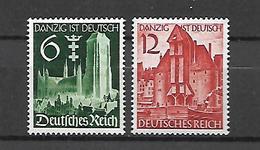 Allemagne III Reich  1939     Cat N°  652, 653       Série Complète   N** MNH - Ongebruikt