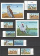G576 SIERRA LEONE FLORA & FAUNA BIRDS ENDANGERED SPECIES OF THE WORLD 1SET+2BL MNH - Oiseaux