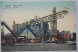 CPA ATHUS ATHEM Usine Fabriek Fabrik Région Aubange Luxembourg Ardenne Gaume - Aubange