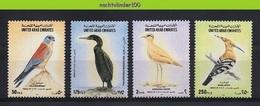 Mza080 FAUNA VOGELS HOP AALSCHOLVER VALK FALCON CORMORANT BIRDS VÖGEL AVES OISEAUX UNITED ARAB EMIRATES 1995 PF/MNH - Collections, Lots & Series