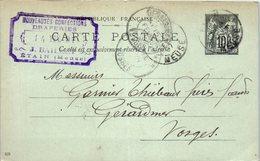 55 ETAIN - Entiers Postaux - Année Février 1907- J. BAILLET - Etain