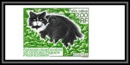 89904d Terres Australes Taaf N°186 Chat Cat Non Dentelé Imperf ** MNH - Geschnitten, Drukprobe Und Abarten
