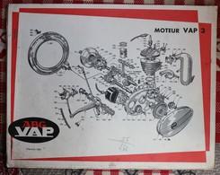 10 Planches 1054 à 1954   Moteur  ABG VAP   Carburateur  Volant Magnétique - Vieux Papiers