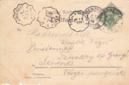 ALLEMAGNE-FRANCE - 1904 - Carte Postale De Dingsheim (Alsace) Pour Senones (France) - Convoyeur - Allemagne