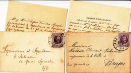 BELGIQUE - 1926 - Lot De 2 Lettres Avec Cartes De Félicitations - Lettres & Documents