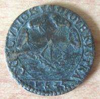Jeton Royal Louis XIII 1635 - Frappe Locale Pour Geneviève D'Urfé - Diam.  21 Mm, Poids : 3,3 Gr - Royaux / De Noblesse