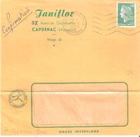 Aveyron :- 12 CAPDENAC GARE Flamme Ondulée - Marcophilie (Lettres)