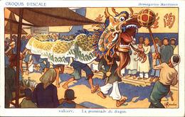 GERVESE  Croquis D' Escale  SAIGON  La Promenade Du Dragon - Gervese, H.
