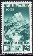 ITALIA REPUBBLICA ITALY REPUBLIC 1953 FESTA DELLA MONTAGNA MOUNTAIN FESTIVAL MNH - 6. 1946-.. Republic