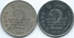 Sri Lanka - 2 Rupees - 1984 - KM147 & 2013 - KM147b - Sri Lanka