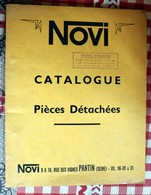 Catalogue Pièces Détachées De Volants Magnétiques  NOVI  Pantin Tarif Général 5904 Distribué Par Nord France - Old Paper
