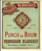 DISTILLERIE BLANCHET . ALBI . PUNCH AU RHUM - Rhum