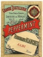 DISTILLERIE BLANCHET . ALBI . LIQUEUR . PEPPERMINT - Labels