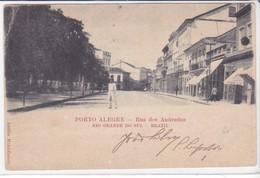 CPA Old Pc Brésil Brazil Porto Alegre Rua Das Andrades - Porto Alegre