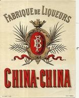 DISTILLERIE BLANCHET . ALBI . LIQUEUR . CHINA CHINA - Etichette