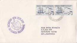 Polaire Néozélandais, N° 5 X 2 Obl. Scott-Base Le 8 OC 70 Pour L'Australie + Cachet Vanda Stn. - Dépendance De Ross (Nouvelle Zélande)