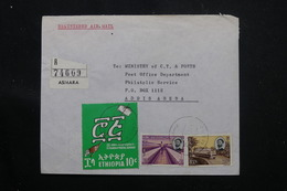 ETHIOPIE - Enveloppe En Recommandé De Asmara Pour Addis Abeba En 1971, Affranchissement Plaisant - L 60277 - Äthiopien