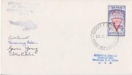 Polaire Néozélandais, N° 7 Obl. Scott-Base Le 23 JA 71 Pour Les USA + Cachet Victoria University Exp. 70-71 + Signatures - Dépendance De Ross (Nouvelle Zélande)