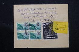 ETHIOPIE - Enveloppe En Recommandé En 1970, Affranchissement Plaisant, Voir Cachets Au Verso - L 60280 - Äthiopien