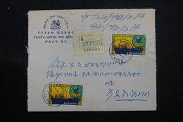ETHIOPIE - Enveloppe En Recommandé De Asmara En 1964, Affranchissement Plaisant, Voir Cachets Au Verso - L 60281 - Äthiopien