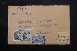 ETHIOPIE - Enveloppe En Recommandé De Asmara En 1965, Affranchissement Plaisant, Voir Cachets Au Verso - L 60282 - Äthiopien