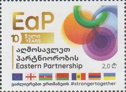 Georgia 2019 2020 Mi# 738  Eastern Partnership 10 Years * * - Georgia